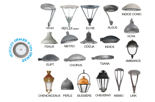 luminaires compatibles Oraled
